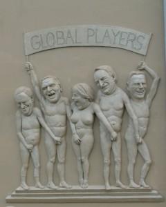Merkel & Co. lustwandeln im globalen Paradies